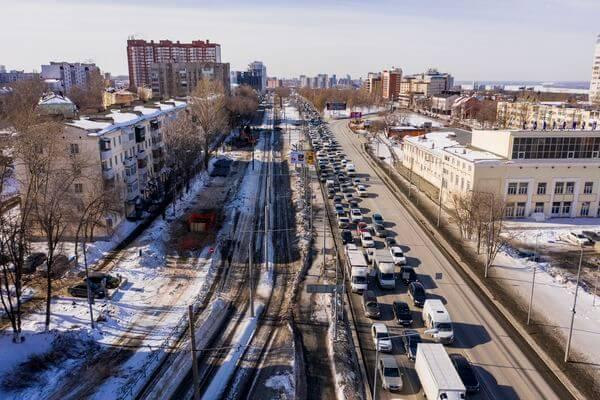 В Самаре приступили к работам по расширению проезжей части дублера улицы Ново-Садовой | CityTraffic