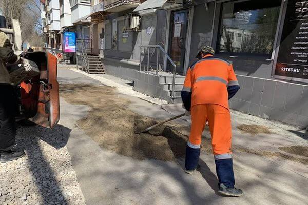 В Самаре начали менять плитку на проспекте Масленникова | CityTraffic