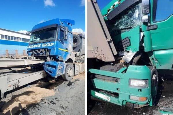 В Тольятти столкнулись 3 грузовика, пострадали 2 человека | CityTraffic