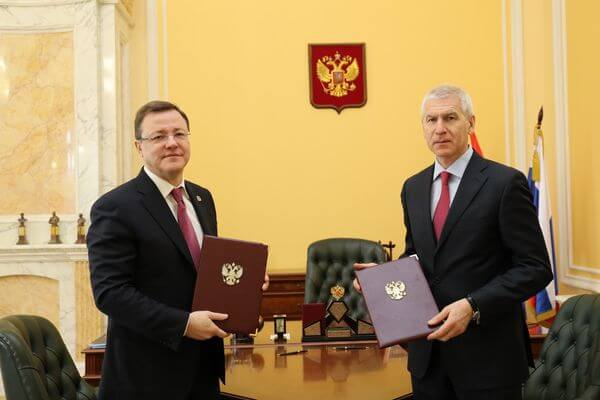 Губернатор Самарской области и министр спорта РФ заключили соглашение о сотрудничестве | CityTraffic