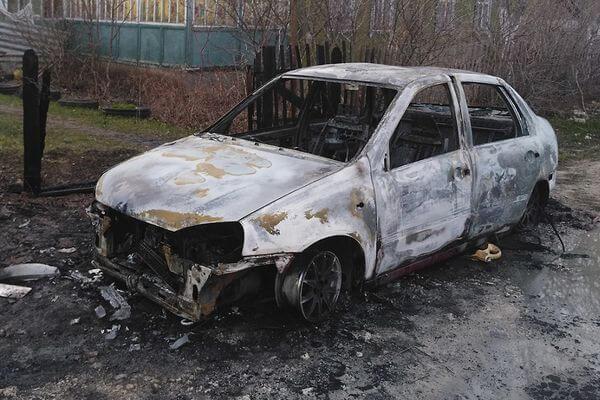 Житель самарского села сжег машину своей бывшей девушки | CityTraffic