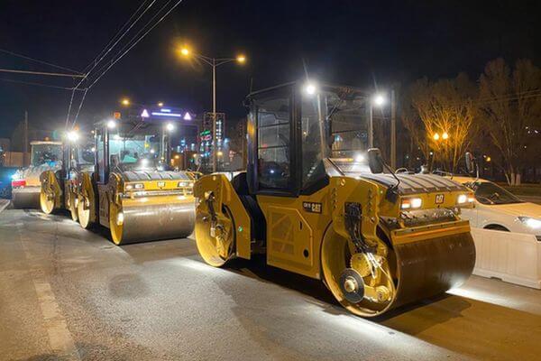 В Самаре начали укладывать асфальт на Московском шоссе   CityTraffic