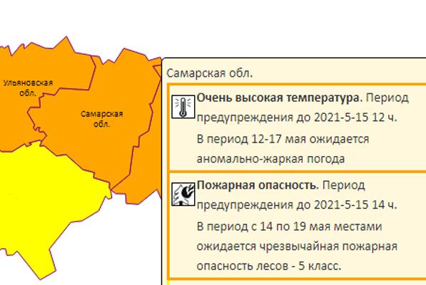 В Самарской области из-за жары уровень погодной опасности поднят до оранжевого | CityTraffic