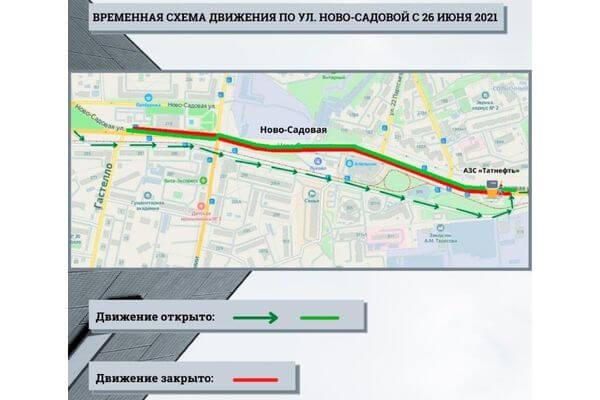 Улицу Ново-Садовую в Самаре будут перекрывать поэтапно | CityTraffic