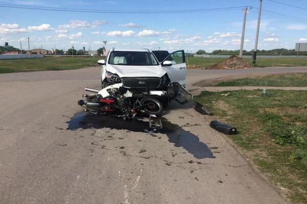 В Самарской области пострадал мотоциклист без прав | CityTraffic