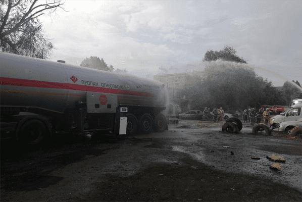 Утром в субботу 93 человека тушили пожар на газозаправочной станции в Самаре | CityTraffic