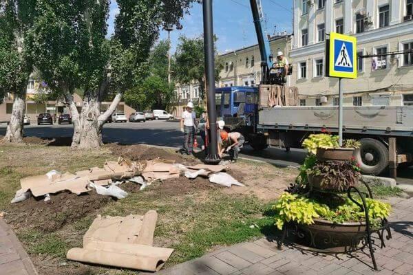 На улице Куйбышева в Самаре демонтируют старое освещение | CityTraffic