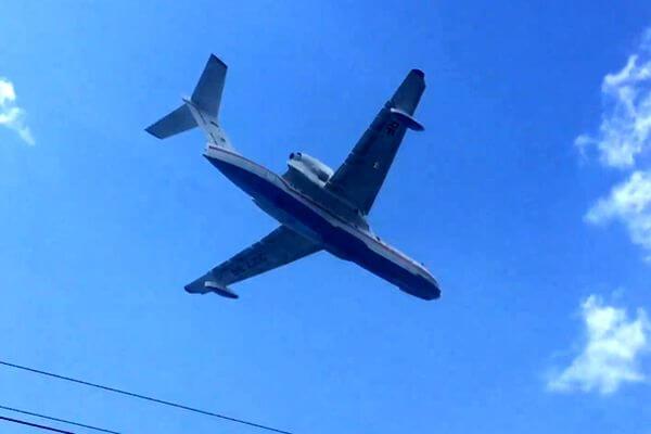 В Тольятти тушить лесной пожар прибыл самолет-амфибия БЕ-200 | CityTraffic