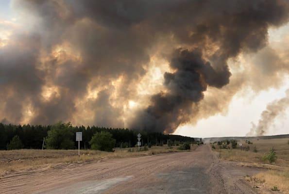 Ночью в Борском районе Самарской области удалось отстоять населенные пункты и локализовать огонь | CityTraffic