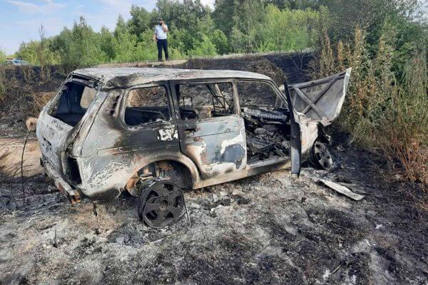 В поисках спиртного житель Самарской области спалил угнанную машину