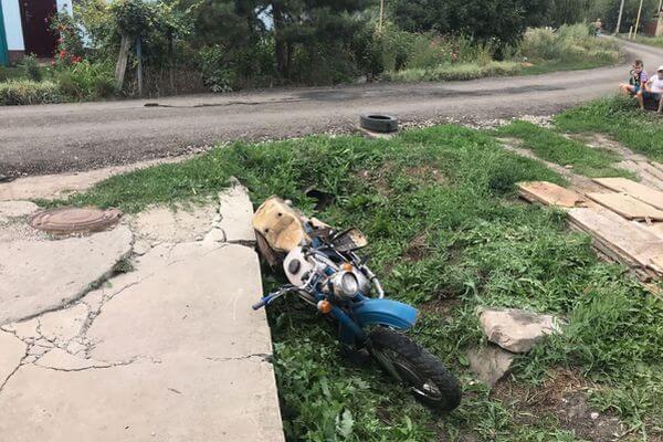 Мотоциклист без прав опрокинулся в Сызрани | CityTraffic