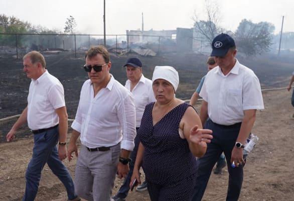 Губернатор Самарской области взял на личный контроль ситуацию в селе Гвардейцы, где произошел пожар | CityTraffic