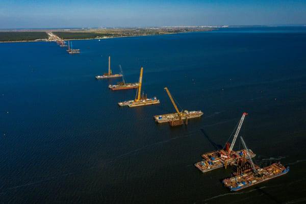 Третий этап надвижки пролетного строения Волжского моста завершен в Самарской области   CityTraffic