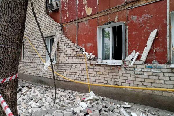 В Самаре обрушилась стена аварийного дома вПромышленном районе