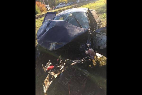 В Самаре при опрокидывании автомобиля погибла женщина, водитель сбежал | CityTraffic